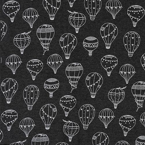 Luchtballonnen op zwarte achtergrond