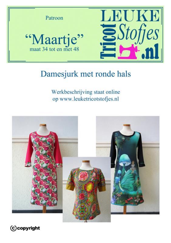"Patroon damesjurk en damesshirt ""MAARTJE"""