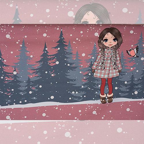 STENZO paneel / winter ( print zit hoog op paneel)