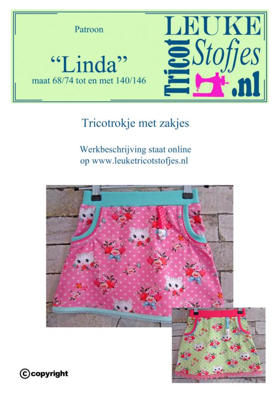 Patroon Rokje Linda meisjes 68/74-140/146 alle maten