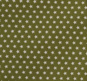 Witte sterren op groen