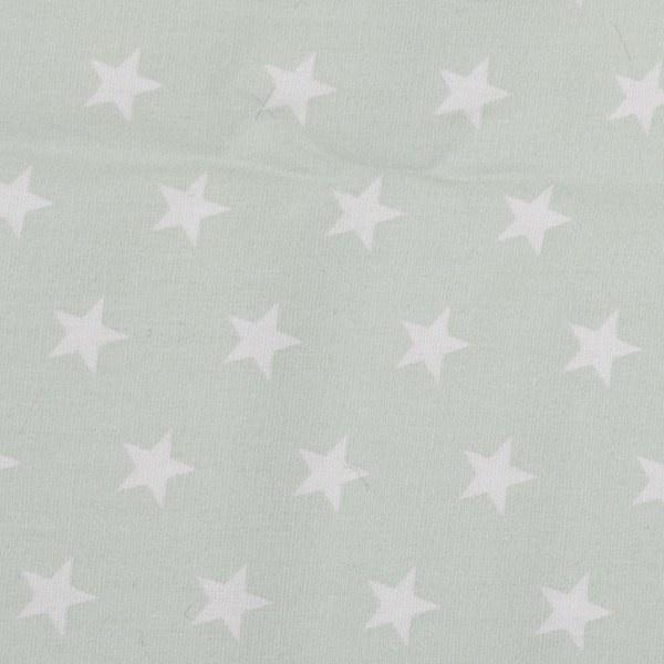 Witte sterren met babyblauw