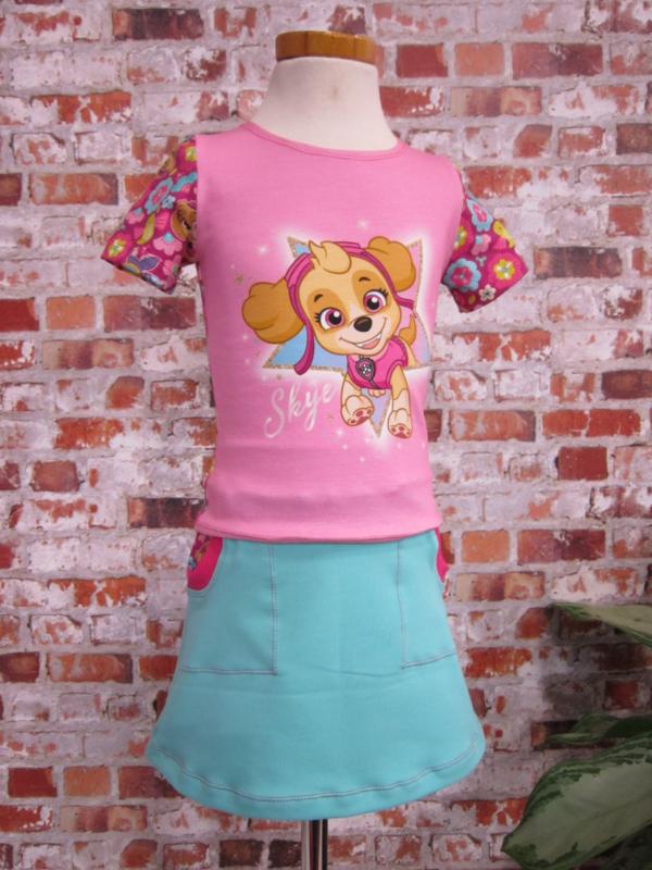 Paw Patrol DIY set Skye roze T-shirt mint Linda rok