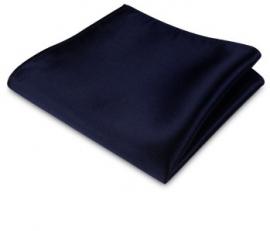 Pochet nachtblauw satijn