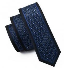 Slimfit stropdas Blue Paisley