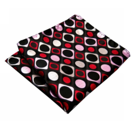 Pochet Black Red Dots