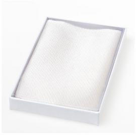 Pochet zijde White