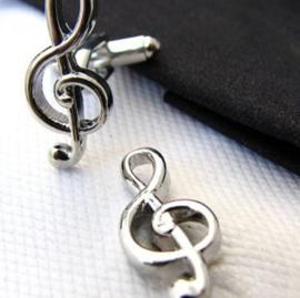 Manchetknopen muziek G sleutel