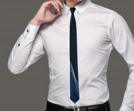 Slimfit stropdas Nightblue stripes