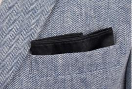 Pochet zijde Black