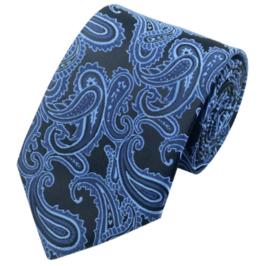 Luxe stropdas Blackblue Paisley