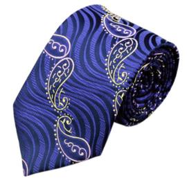 Stropdas set met manchetknopen en pochet in blauw paars
