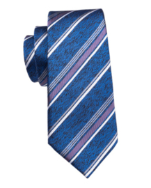 Stropdas met pochet en manchetknopen jeansblue stripes