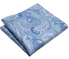 Pochet Light blue Paisley