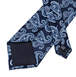 Stropdas set nightblue Paisley