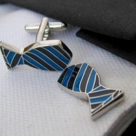 Manchetknopen Blue Tie