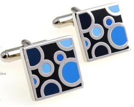 Manchetknopen blue circles