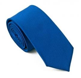 Slimfit stropdas Blue silk rib