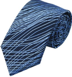 Stropdas Blue pattern stripes