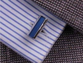 Manchetknoop Blue Stripe