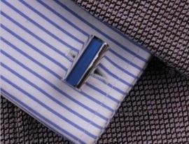 Manchetknoop Blue Stripe