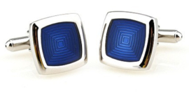 Manchetknopen blue squares