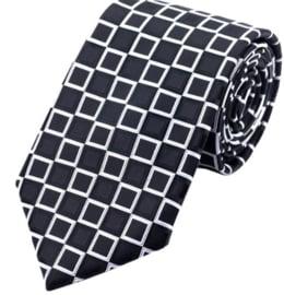 Stropdas Zwart wit square