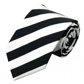 Stropdas set met manchetknopen en pochet Black&White