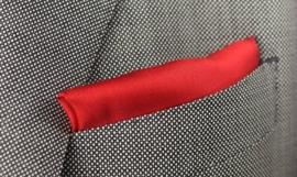 Pochet zijde Red