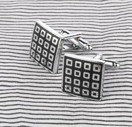 Manchetknopen 16 squares
