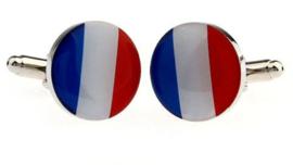 Manchetknopen rood wit blauw vlag