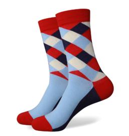 Box met 3 paar trendy sokken A (mt 41-46)