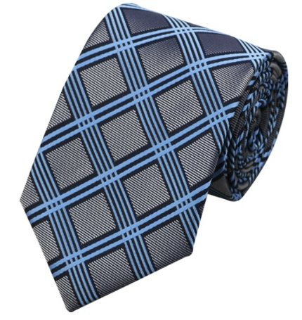 Stropdas Blue grey