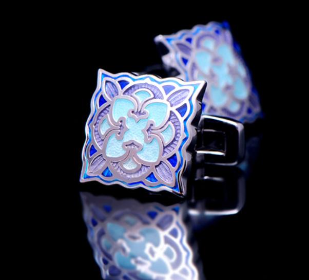Luxe manchetknopen Enemal Blue