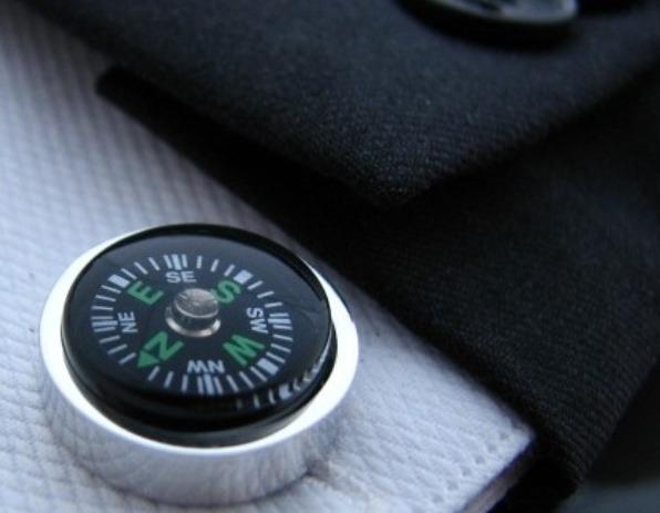 Manchetknopen Kompas