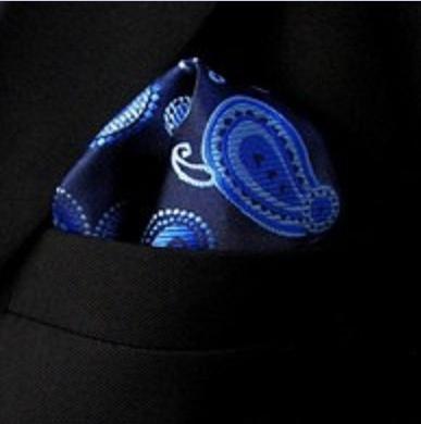 Pochet Blue Paisley