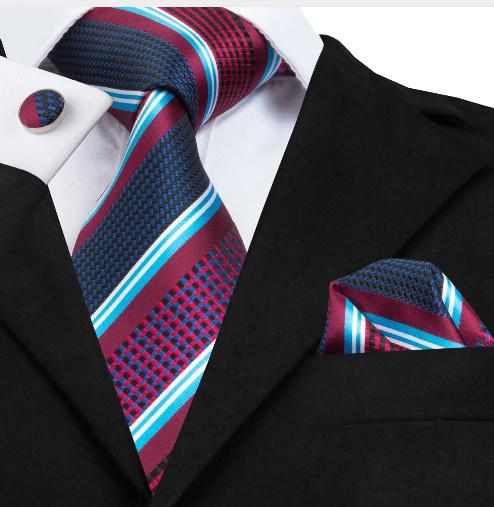 Stropdas set in rood wit blauw