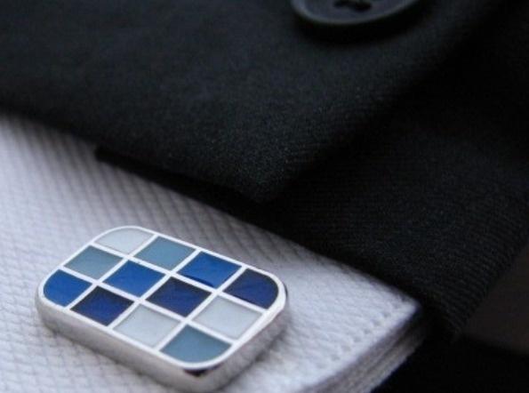 Manchetknoop rectangle Blue