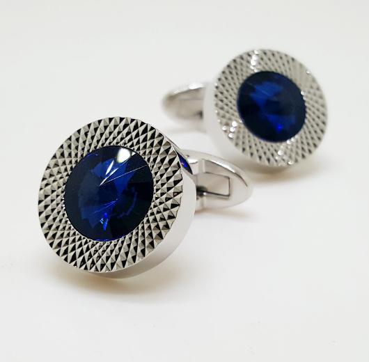 Luxe manchetknopen Blue Diamond