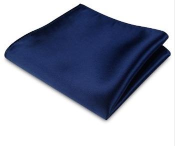 Pochet dark blue satijn