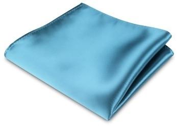 Pochet sky blue satijn