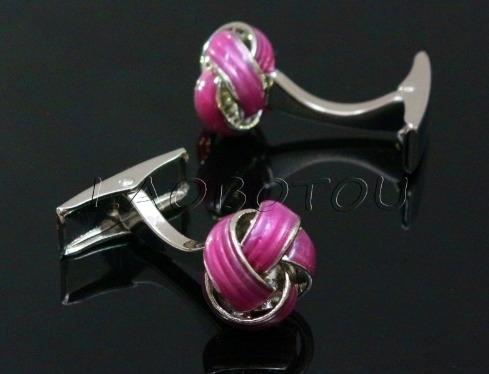 Manchetknoop knot roze