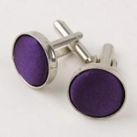 Manchetknoop zijde Purple