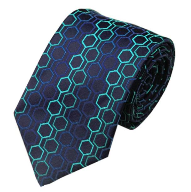 Stropdas Hexagon blues