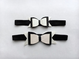 Black & White bow haarband
