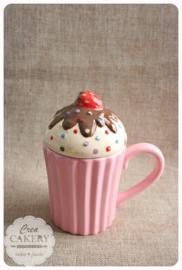 Mok - Cupcake Aardbei