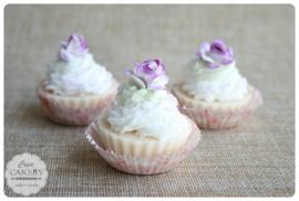 Cupcake honing-amandel