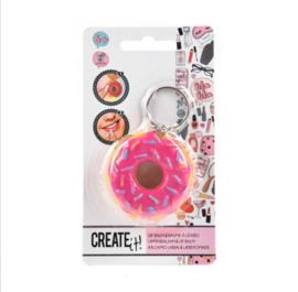 Donut lipgloss sleutelhanger