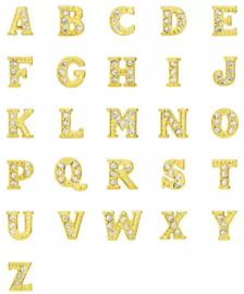 Letters goud met strass