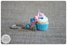 Blauwe xl cupcake #4